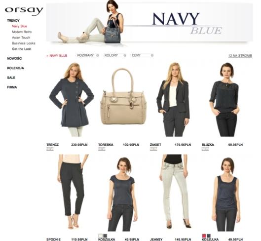 Kolekcja Navy blue